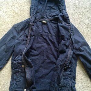 J. Crew Jackets & Coats - J Crew women's lightweight navy hoodie jacket XS